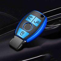 Nouveau cuir + TPU Coque de protection de la voiture pour Mercedes Benz A B R G Class GLA W204 W251 W463 W176 Accessoires