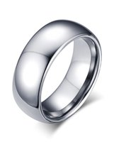 Wedding Rings POYA Tungsten Ring For Men Women Classic Band High Polished Comfort Fit