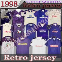 Classics 1989 90 레트로 Fireentina 피렌체 축구 유니폼 1992 93 Rui Costa Batistuta 1998 99 00 클래식 축구 셔츠 키트 Camiseta Futbol Maillot 드 발