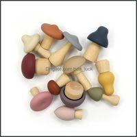 Сосыхи здравоохранения ребенка, дети материнъюбунны набор зубов мягкие ступеньки детские успокаивающие TeTher MTI формы и размер мини гриба прорезывания зубов
