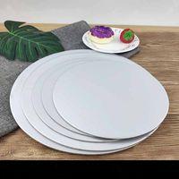 Torta Board Tool Rounds Bianco Circolo Cerchio Base Beach Portabicchieri Monouso Vassoio a piastre 5 Taglie per decorare le forniture di cottura