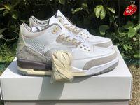 2021 a ma maniere x أصيلة 3 أحذية في الهواء الطلق الرجال المتوسطة رمادي البنفسجي خام الأبيض مانيعر جزء mocha unc متسابق ازرق مع صندوق الأصلي