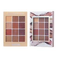 Eye Shadow Pearlescent Eyeshadow Palette Earth Color Shiny Nude Pigment Repairing Box Easy To Female Maquillage