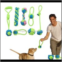 Mastica algodón perro cuerda juguete nudo cachorro masticar dentición juguetes dientes limpieza mascota palying bola para pequeños perros grandes grandes 4qgin s2bne