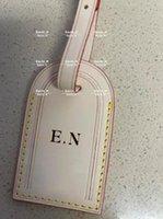 Etiquetas de alta qualidade Tags Viagem HotStAp Acessórios Mala personalizada Personalizada Inicial Business Batic Bag Etiqueta Tag de couro bronzeado