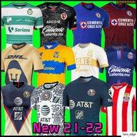 20 21 22クラブアメリカCruz Azul Soccer Jersey 2021 2022 Guadalajara Chivas 115th Tijuana Unam Tigresホーム離れた第3リガMXサッカーシャツ