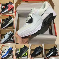 고품질 2021 새로운 공기 쿠션 90 러닝 신발 저렴한 남성 여성 블랙 화이트 90S 클래식 공기 디자이너 트레이너 야외 스포츠 신발 S132
