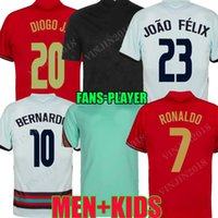 Version du joueur 20 21 William Soccer Jersey Équipe nationale Joao Felix 2020 2021 Bernardo B.Fernandes Camisa de Futebol Shirts