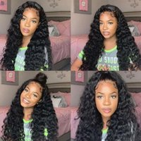 Lace Wigs 13x4 Frontal Human Hair Remy 180 Pre Plucked With Baby Brazilian Loose Deep Wave Wig 4x4 Closure