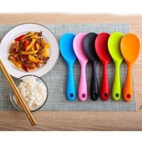 Newcolorful سيليكون رايات الملاعق مقاومة للحرارة غير عصا rices ملعقة المطبخ أدوات المائدة مغرفة الطبخ المطبخ أداة 12 ألوان EWA5537
