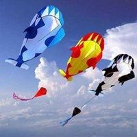 Professionell Power 3D Cartoon Whale Software Kite / Animal Kites Enkel linje med sträng Bra flygande dropshipping
