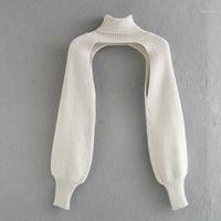 Frauen Rollkragenguss Langarm Strick Pullover Casual Femme Chic Design Pullover High Street Dame Tops SW8861
