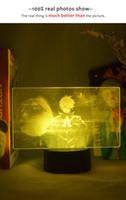 3D-Bild-Lampe LED-Licht Atmosphäre Zauberer GOJO Satoru Figur Nachtlicht Kind Schlafzimmer Decor Manga Geschenk