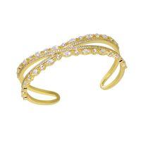 Luxury Designer Jewellery Love Cuff Bracelet For Women Punk Style Srystal Bangle Customized Costume Copper Indian Yellow Charm Bangles Jewelry Bracelets On Hand