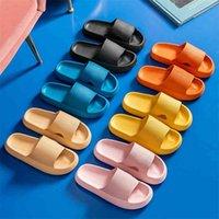 Women Thick Platform Slippers Summer Beach Eva Soft Sole Slide Sandals Leisure Men Ladies Indoor Bathroom Anti-slip Shoes 210913