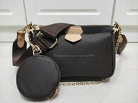 여성 어깨 가방 핸드백 3pcs / 세트 패션 멀티 포 셰트 액세서리 고품질 체인 레이디 크로스 바디 메신저 가방 코인 지갑