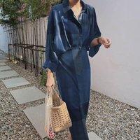 Casual kleider 2021 mode frauen maxi long kleid elegant revers sleeve gedruckt party vestidos zanzea sommer sonnengut robue femme übergroß