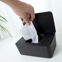 Doku Kutuları Peçeteler Plastik Kutu Islak Tutucu Bebek Mendil Kağıt Depolama Havlu Dağıtıcı Ev Napkin Organizatör