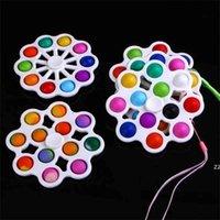 إصبع فقاعة تململ اللعب دفع سيليكون 12 fingertip أعلى الضغط لعبة سلسلة المفاتيح القوارض القاتل الإجهاد كرات كيرينغ قلادة HWF7340