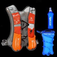 Outdoor Bags 5L Running Hydration Backpack Rucksack Bag Vest Harness Water Bladder Hiking Camping Marathon Race Sports Orange