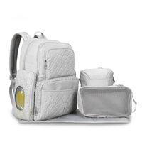 Diaper Bags 2021 3pcs set Fashion Mommy Nappy Bag Waterproof Nylon Baby Backpacks Luiertas Changing Mochila Infantil