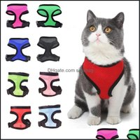 Leashes Home & Gardennylon Pet Mesh Harness Soft Net Dog Mini Vest Collars Adjustable Breathable Puppy Harnessdog Supplies 21 Designs Wll747