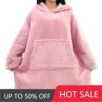 Women's Hoodies & Sweatshirts Wearable Oversized Hoodie Blanket With Sleeves Warm Giant Soft Sweat Thick Women Fleece Hoody