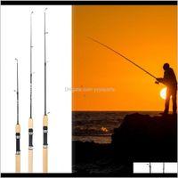 Spinning 75cm Longitud Camarón Poste de hielo Portátil Peso Luz Tackle Lure Herramientas de Pesca Pesca Im6in QVXSJ