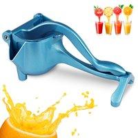 Juicer d'agrumes manuels, presse à main robuste Presse de citron, presse-fruits en alliage en aluminium en métal pour la chaux orange pomme fruit (bleu)