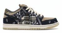 2021 Authentisches Dunk Travis Scott Regular Box SB Schuhe Kaktus Jack Niedriger Schwarzer Fallschirm Beige Petra Braun Mann Frau Outdoor Sneakers