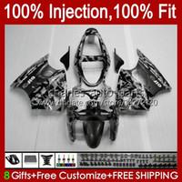 Injection Mold Bodywork For KAWASAKI NINJA ZX-6R ZX600 ZX636 ZX-600 Body 37HC.100 ZX 600 CC 6 R ZX 6R ZX 636 600CC ZX6R 00 01 02 ZX-636 2000 2001 2002 glossy grey OEM Fairing