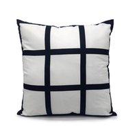Moda 9 Panel Yastık Kılıfı Süblimasyon Boş Yastıklar Kapak Polyester Yastık Transfer Baskı DIY Kişiselleştirilmiş Hediye 40 * 40 cm