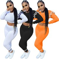 Women Designer Two Pieces Tracksuits Outfits Solid Color Long Ruffled Sleeve Trousers Ladies Fashion Bodycon Legging Pants Set Yoga Sportwear