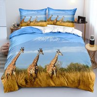 Bedding Sets Giraffe Beddings 3D Custom Design Animal Duvet Cover White Bed Linen Pillow Cases 203*230cm Full Twin Double Queen Size
