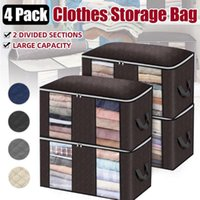 4pcs set Clothes Quilt Storage Bag Blanket Closet Sweater Organizer Box Sorting Pouches Cabinet Container Travel Home Bags