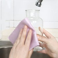 Household Thicken Cleaning Cloths Solid Color Double Sided Clean Towel Rub Window Glass Rag Kitchen Washing cloth By sea T2I52771