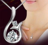 Collana a sospensione a ciondolo con diamanti di alta qualità Zircone cubico 30% 925 Sterling Sterling Little Mermaid Pendant Collana per gioielli da sposa festa 61 J2