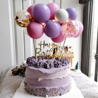 Other Festive & Party Supplies 10pcs Balloon Cake Topper Cloud Shape Confetti Balloons For Birthday Decoration Baby Shower Dessert Baking