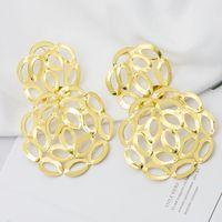 Dangle & Chandelier Drop Earrings Pendant For Women Fashion Jewelry 2021 African Geometric Hanging Big Bride Party Wedding