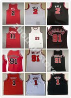 Top 2 Lonzo Ball Zach 8 Lavine Basketball Jersey Derrick 1 Rose 11 DEMAR DEROZAN MENS 23 Dennis 91 Rodman Scottie 33 Pippen rojo blanco negro