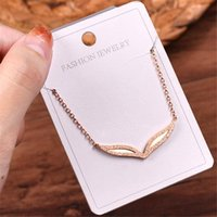 Pendant Necklaces Non-fading Prom Mask Love Wedding Necklace Rose Gold 316L Stainless Steel NFS Jewelry Rope Chain Metal