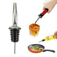 أدوات شريط الفولاذ المقاوم للصدأ زجاجة النبيذ Pourer بار الخمور تدفق صنبور سدادة المطاط الروح pourers barrware owd8706