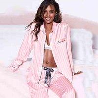 2 أجزاء مجموعة pijamas النساء الحرير الحرير منامة الصيف منامة النوم صالة ارتداء النوم pjs صالة نوم ليلة بدلة ملابس المنزل 200919