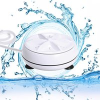 Wonderlife 2 in 1 American plug Portable Mini Washing Machine Ultrasonic Washer with USB Cable Convenient for Travel Business 210831