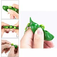 Infinite Squeeze Edamame Toys Peas Beans Keychain Pop It Fidget Squishy Decompression Anti Adult Figet Stress Toy
