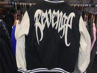 Męskie bluzy bluzy Revenge Varsity Jacket Mężczyźni Kobiety 1: 1 Jakość Haftowane Rękawy Skórzane Szycie Baseball Uniform XXXTENTAcion