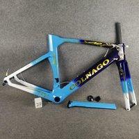 T1100 UD Matte brillant bleu ciel bleu ciel bleu avec doré logo Colnago concept concept disque carbone roue de vélo de vélo de vélo de cadres de charbon routier de carbone taille 45/48 / 50 / 52/54 / 56cm