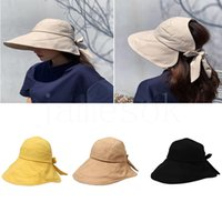 Japanese style portable cotton sun hat for girls women summer outdoor anti-uv rays wholesale DD042
