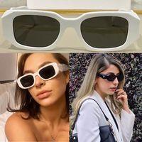 Donne P Home Occhiali da sole SPR17WF Designer Party Glasses Ladies Stage Style Top di alta qualità Fashion Concave-Convex Trid-Dimensional Line Specchio Specchio Telaio Dimensioni 51-20-145