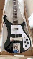 Promiton! Backer 4 Cordes Noir 4003 Matériel chromé de guitare de basse électrique, Inlay de la vadrouille Triangle, Touche en palissandre